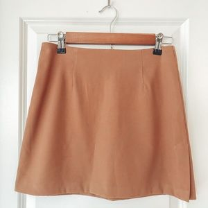 VINTAGE A. BYER CALIFORNIA Tan Mini Skirt
